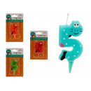 candle birthday animals 5 colors 4 times assorted