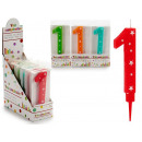 birthday candle big numbers 1 colors 4 times s