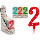 Geburtstagskerze große Zahlen 2 Farben 4 mal s