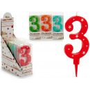 birthday candle large numbers 3 colors 4 times s
