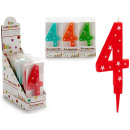 birthday candle big numbers 4 colors 4 times s