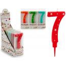 Geburtstagskerze große Zahlen 7 Farben 4 mal s