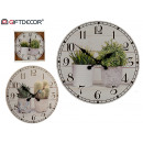 wholesale Clocks & Alarm Clocks: wood clock 58x58 plants 2 times assorted