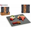 wholesale Decoration: Slate appetizer square 25x25cm