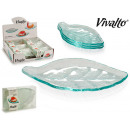 glass appetizer set 4 bowl leaf