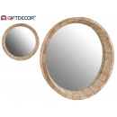 90cm wood mirror deep molding
