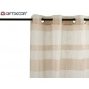 wholesale Curtains & Drapery: curtain 140x260cm 8 rings beige white