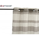 wholesale Curtains & Drapery: curtain 140x260cm 8 rings white gray