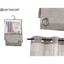 curtain 140x260cm 8 rings gray white