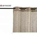 wholesale Curtains & Drapery: curtain 140x260cm 8 beige rings