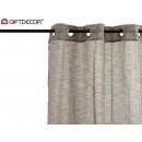 wholesale Curtains & Drapery: curtain 140x260cm 8 rings brown