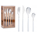 set of 16 cutlery handle assorted blan and negr