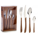 set of 16 cutlery shape wooden handle