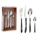 set of 16 cutlery shape marble handle, 2 neighbors