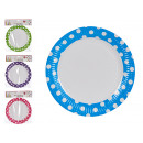 set of 6 round dishes white background 4 times