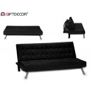 abat leather sofa black 180x106 chrome