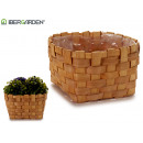 medium round cane planter