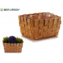 small rectangular cane flowerpot