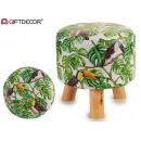 groothandel Home & Living: kruk houten poten 28x28cm tucan