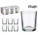 wholesale Drinking Glasses: set of 6 water glasses striped 6x26cl