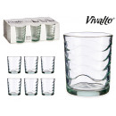 wholesale Drinking Glasses: set of 6 glasses water waves 6x26cl