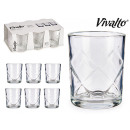 wholesale Drinking Glasses: set of 6 water glasses rhombs 6x26cl