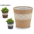 wholesale Plants & Pots: flower pot sack medium lace assorted nat / cho ...
