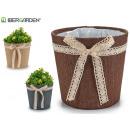 Blumentopf Big Bag Bogen sortiert nat / choc / gra