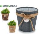 wholesale Garden & DIY store: flower pot sack hangs medium assorted nat / ...