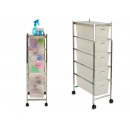chest of drawers 5 drawers transparent color