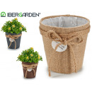 flower pot sack hangs small assorted nat / cho / g