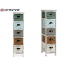 wall cabinet 5 drawers assorted colors