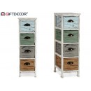 wall cabinet 4 drawers assorted colors