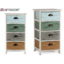 wholesale Small Furniture: wide cabinet 4 drawers assorted colors