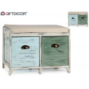 furniture seat 2 drawers colors assorted