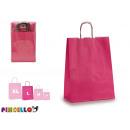 sacchetto di carta media color magenta