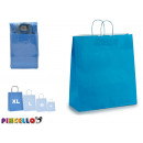 grand sac en papier bleu