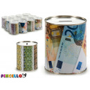 Großhandel Geschenkartikel & Papeterie: Metall Sparschwein 1 k Rechnungen 2 fach sortiert