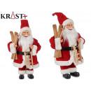 Weihnachtsmann 40cm mit Schlitten und Skiern