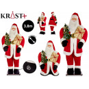 santa claus xxl 380cm with gift light and mus