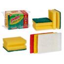 Großhandel Reinigung: Set bestehend aus 2 Schwämmen und 3 Topfreinigern