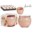 peach glass jar candle