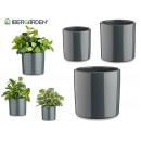 set di 3 vasi in ceramica cilindro 14-17-22