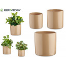 set de 3 pots en céramique cylindre 14-17-22
