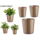 grossiste Outils de jardin: set de 3 pots en céramique conica taupe