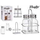wholesale Household & Kitchen: set of 2 salt shakers with metal stand