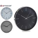 Großhandel Uhren & Wecker: Runde uhr 30 cm farben 3 fach sortiert sinnum