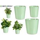 set di 3 vasi conici in ceramica 11-14-17 cm