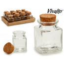 wholesale Home & Living:small square glass jar
