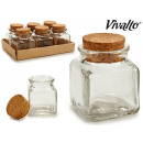 wholesale Home & Living:glass jar square medium